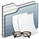 Documents-Folder-graphite icon