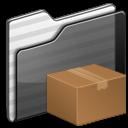 Download-Folder-black icon