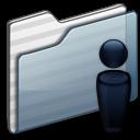 Users-Folder-graphite icon