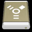 Lightbrown-External-Drive-FireWire icon