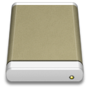 Lightbrown-External-Drive icon