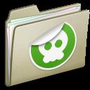 Lightbrown-Sticker icon