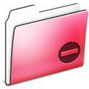 Private-Folder-Red-smooth icon