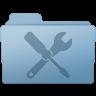 Utilities-Folder-Blue icon