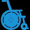 Wheelchair-blue icon