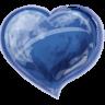 Heart-blue icon