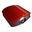 Projector-red icon