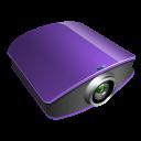 Projector-violet icon