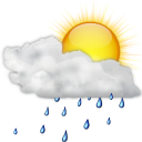 Status-weather-showers-scattered-day icon