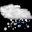 Status-weather-snow-rain icon
