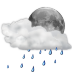 Status-weather-showers-scattered-night icon