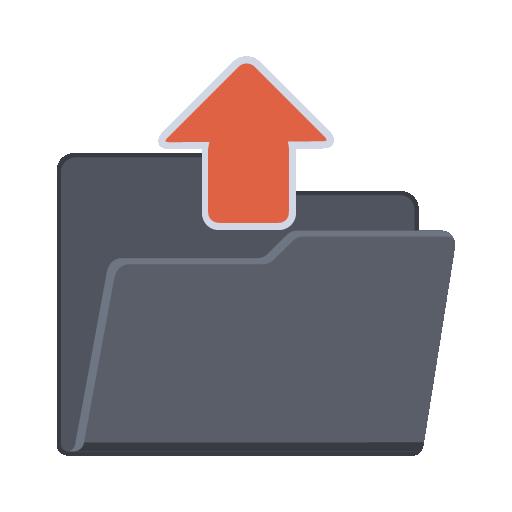 Subir icono de carpeta - ico,png,icns,Iconos Descargar libre