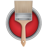 Paint-Bucket-Can-Brush icon