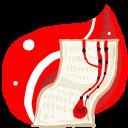 Folder-Red-doc icon
