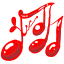 Music-red icon