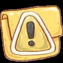 Hp-folder-caution icon