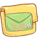 Hp-folder-mail-green icon