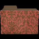 Folder-damask-crimsony icon
