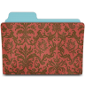 Folder-damask-crimson icon