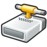 Hard-driver-shared-connect icon
