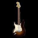 Guitar-stratocaster-orange icon
