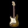 Guitar-stratocaster-orange-bright icon