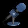 Microphone-foam-blue icon