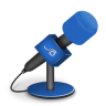 Microphone-foam-brightblue icon