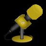 Microphone-foam-orange icon