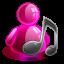 Music-girl icon