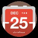 Calendar-christmas icon