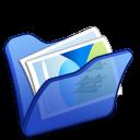 Folder-blue-mypictures icon
