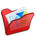 Folder-red-mypictures icon
