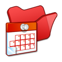 Folder-red-scheduled-tasks icon