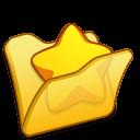 Folder-yellow-favourite icon
