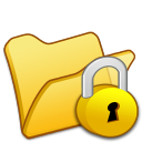 Folder-yellow-locked icon