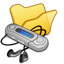 Folder-yellow-mymusic icon