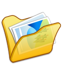 Folder-yellow-mypictures icon