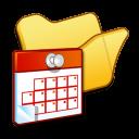 Folder-yellow-scheduled-tasks icon