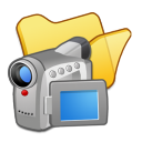 Folder-yellow-videos icon