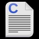 Text-x-c icon