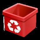 Trash-red-empty icon