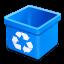 Trash-aqua-empty icon