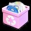 Trash-pink-full icon