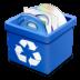 Trash-blue-full icon