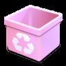 Trash-pink-empty icon