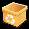 Trash-yellow-empty icon