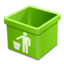 Green-trash-empty icon