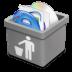 Grey-trash-full icon