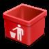 Red-trash-empty icon